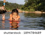 Asian One Boy Of Thai Ethnicity ...