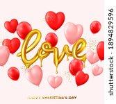 happy valentine's day card.... | Shutterstock .eps vector #1894829596