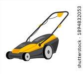 push lawn mower vector... | Shutterstock .eps vector #1894832053