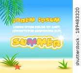 summer holidays background.... | Shutterstock .eps vector #189483320