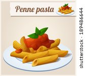 detailed icon. penne pasta with ... | Shutterstock .eps vector #189486644