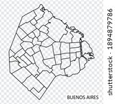 high quality map of buenos...