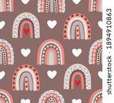 boho style  seamless pattern...   Shutterstock .eps vector #1894910863