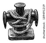 bollard of sailing ship | Shutterstock . vector #189491219
