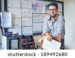 scientist and teacher | Shutterstock . vector #189492680