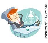 vector illustration of  office... | Shutterstock .eps vector #189494780