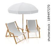 Blank White Two Sun Chairs An...