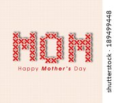 happy mother's day celebrations ... | Shutterstock .eps vector #189499448