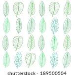 Green leaves seamless pattern for design. Vector illustration