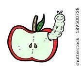 cartoon apple with bug | Shutterstock .eps vector #189500738