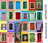 collection colorful windows and ... | Shutterstock . vector #189500759