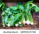 Fresh Organic White Turnip With ...