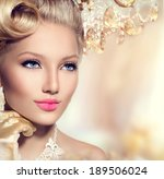 beauty retro woman portrait.... | Shutterstock . vector #189506024
