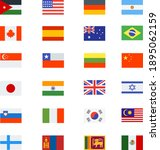 national flags collection set... | Shutterstock .eps vector #1895062159