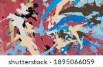 watercolor  oil  grunge...   Shutterstock . vector #1895066059