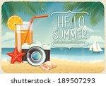vector summer background with... | Shutterstock .eps vector #189507293