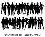 people silhouettes set | Shutterstock .eps vector #189507980