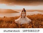 Beautiful Woman Brunette Bride...