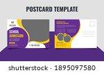 school admission postcard...   Shutterstock .eps vector #1895097580