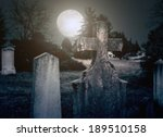 Spooky Cemetery Night