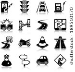 Road Traffic Related Icons ...