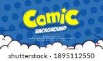 empty pop art comic background... | Shutterstock .eps vector #1895112550