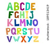 multicolored alphabet curve | Shutterstock . vector #189513419