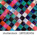 color watercolor retro... | Shutterstock . vector #1895182456