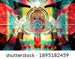 color watercolor retro... | Shutterstock . vector #1895182459