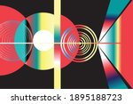 abstract bright geometric... | Shutterstock .eps vector #1895188723