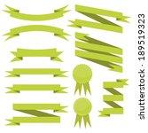 vector set of flat cute green...