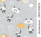 cute panda bear with kawaii...   Shutterstock .eps vector #1895194870