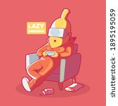 Lazy Banana Vector Illustration....