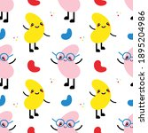 colorful doodle style kidney...   Shutterstock .eps vector #1895204986