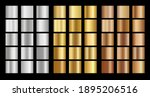 ollection of metallic... | Shutterstock .eps vector #1895206516
