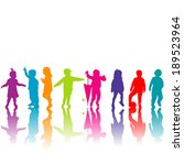 set of colored children... | Shutterstock .eps vector #189523964