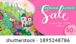 spring sale card with... | Shutterstock .eps vector #1895248786