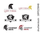 helm gladiator signs and labels | Shutterstock . vector #189525848