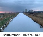 Frozen Canal During Sunset....