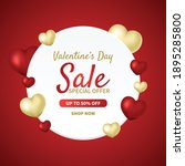 valentine's day sale background.... | Shutterstock .eps vector #1895285800