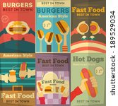 fast food fun posters...   Shutterstock .eps vector #189529034