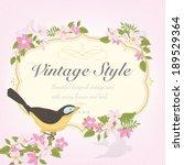 spring vintage  vector... | Shutterstock .eps vector #189529364