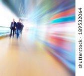 People In Motion Blur Walking...
