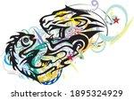 grunge aggressive tribal symbol ... | Shutterstock .eps vector #1895324929
