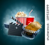 popcorn box  disposable cup for ... | Shutterstock .eps vector #189533999