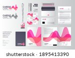 pink and red transparent shapes ... | Shutterstock .eps vector #1895413390