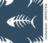 fish bones seamless pattern....   Shutterstock .eps vector #1895527426