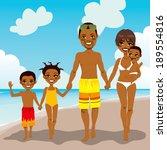 happy african american family... | Shutterstock .eps vector #189554816