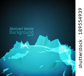 abstract vector mesh background.... | Shutterstock .eps vector #189554939