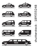 different types of taxi cars  ... | Shutterstock .eps vector #189555248